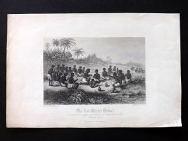Fullarton (Pub) 1860 Antique Print. The Red Water Ordeal. Guinea, Africa